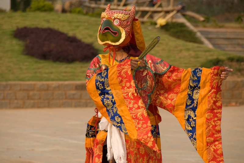 Dances in Chandragiri for Losar, the Tibetan New Year