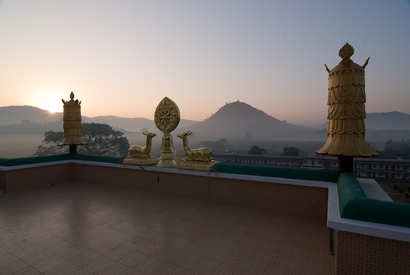 View from the Monastery roof at dawn during Rinchen Terdzo