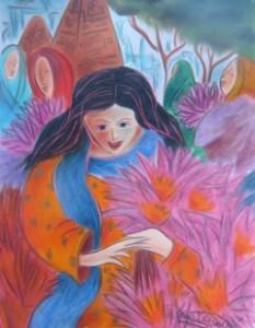 Lotus Offering in Bodh Gaya, by Tatjana Krizmanic