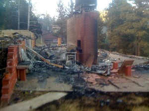 Courtesy of Chase Weatherfield Bauer, who took this photograph of the remains of his parent's house.