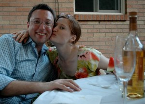 Newlyweds Joshua Silberstein and Liz Downey