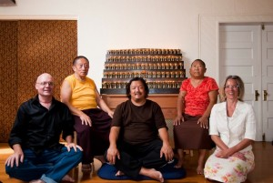 Lama Pegyal, Gyurme Dorje, Lady Konchok, and Allya Canepa.