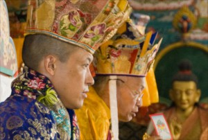 Sakyong Mipham Rinpoche and His Eminence during the enthronements