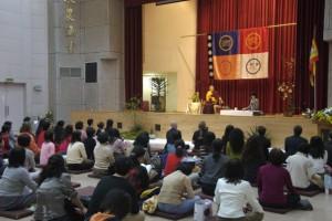 Sakyong gave teachings in Taipie, March 2007.