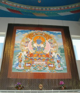Vajradhara Thangka at the Great Stupa of Dharmakaya, photo by Greg Smith.