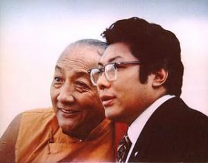 Dilgo Khyentse Rinpoche with the Vidyadhara