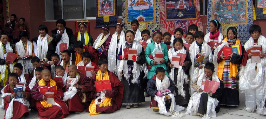 Celebration of Losar (Tibetan New Year) at the Surmang Shedra