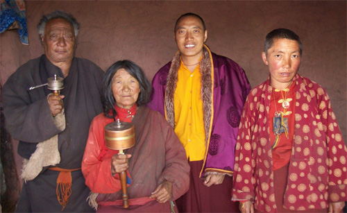 Dad, Mom, Khenpo, and Sister