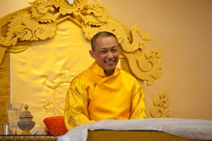 Sakyong Mipham Rinpoche on Shambhala Day 2011 in Boulder. Photo courtesy of Marv Ross.