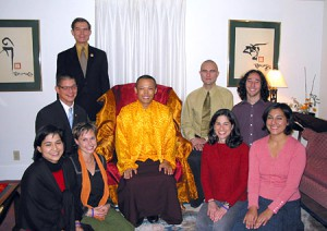 Mukpo Institute participants with Sakyong Mipham Rinpoche, Fall 2006