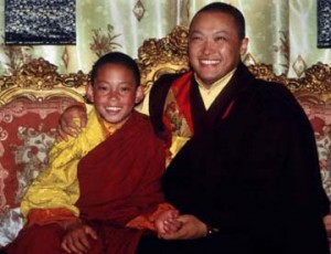 The Sakyong Meeting the Twelfth Trungpa at Surmang Monastery in 2001. Photo courtesy of the Konchok Foundation.