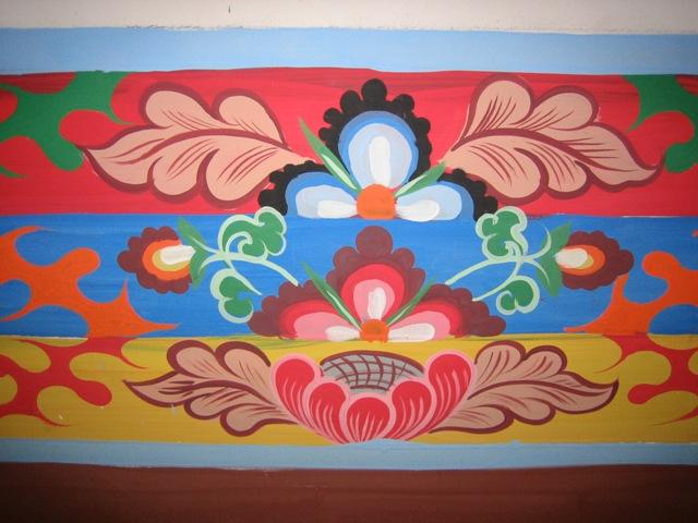 One of the decorative embellishments around interior doors.