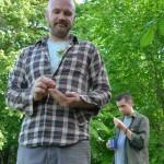 PJ Goodwin and Geoff Cox enjoy silent Tea Time