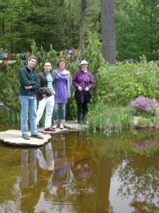 Dylan Bianchi, Joel Tenenbaum, Meghan Misset and Heather Coisineau during a retreat field trip