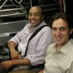 The bonding begins: Marvin Robinson, with Machen Corps Aide de Camp Nathan Railla, on the Boston airport shuttle.