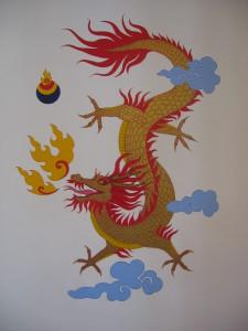 Karme Choling dining room dragon