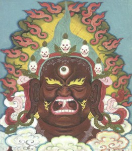 Ekajati: Queen of the Mamos, thangka painting by Chogyam Trungpa Rinpoche