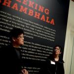 Artist Gonkar Gyatso, left and curator Jacki Elgar right