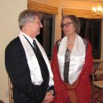 Bob Ziegler and lady Shari Vogler with their khatas
