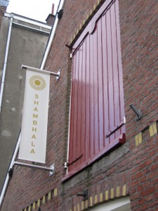 outside the Amsterdam Shambhala Center, photo by Sarah Lipton