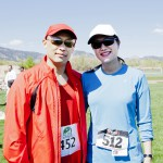 Their Majesties share a smile after finishing the Earth Day 5k run in Boulder.  Photo by Kevin Hoagland
