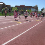 Children running on Earth Day in Boulder