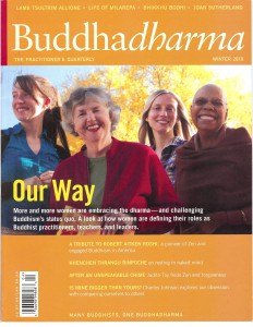 Fay Elliott on the cover of Buddhadharma