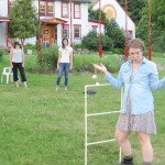 Ladder-ball practice at Karme Choling