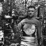 Slava, collecting items in the forest