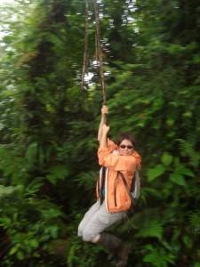 Anna on rope swing