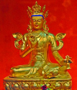King Dawa Sangpo,  the first sovereign of the Kingdom of Shambhala, received the sacred teachings on enlightened society from the Buddha.