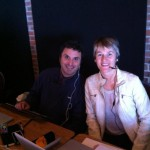 Aaron Bihari and Heather Scott at the Shambhala Online desk