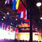 the flags at Pier 21 and the brilliance on the stage