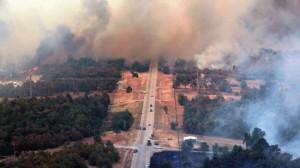 wildfire near Drumright
