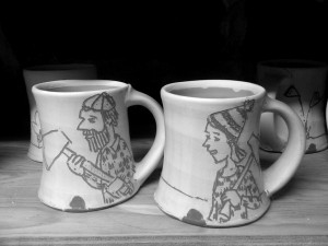 mugs by my brother Jeffrey Lipton