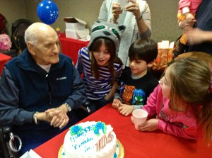 At the party with great and great-great grandchildren.