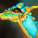 Turquoise dragon meets Turquoise Princess