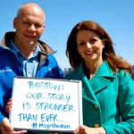 Christina Hager and Jim from WBZ-TV (CBS Boston) — at Cambridge waterfront
