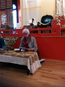 Judy Lief reading at the Boulder Shambhala Center