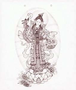 Yeshe Tsogyal by Cynthia Moku