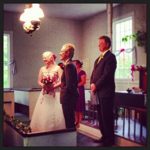 Greg and Caitlin Smith of Boston, MA were married on June 8 in Guilford, VT in a Shambhala Ceremony