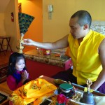Sakyong Mipham blesses Jetsun Drukmo on her birthday