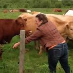 Sarah with Heather Scott's cow neighbors
