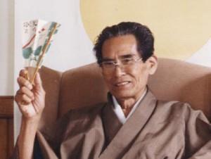 Shibata Sensei with fan