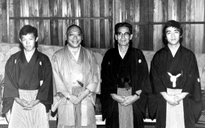 ShibataXX and Trungpa Rinpoche with their sons