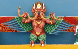 Red Garuda Sculpture, Orissa India