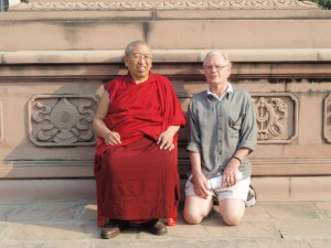 Bob Sonne with Thrangu Rinpoche in Nepal in 2008