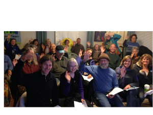 Participants from the robust Sonora group in Northern California gather for the online talk.