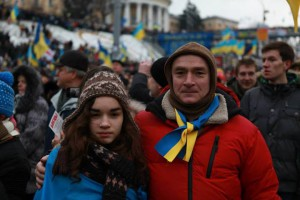 Temo and daughter Dali at the protests