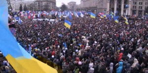 A million people come to Maidan Square in peaceful protest